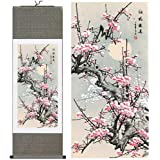 Orsit Asian Wall Silk Reel Painting, Plum Blossom…