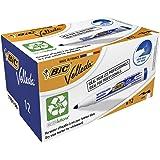 BIC Velleda 1701 Whiteboard Marker Medium Bullet Tip - Blue Ink, Box of 12 Dry Erase Markers