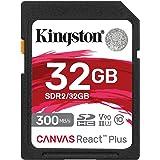 キングストン SDHCカード 32GB 最大300MB/s UHS-II V90 4K 8K UHS-IIカードリーダー付属 Canvas React Plus MLPR2/32GB 永久保証