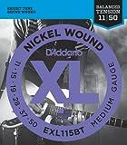 D'Addario ダダリオ エレキギター弦 ニッケル バランスドテンション Blues/Jazz Rock .011-.050 EXL115BT 【国内正規品】
