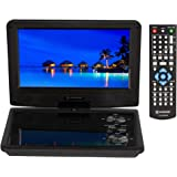 """Region Free Portable DVD Player 9"""" Screen with 5 Hour Battery with headrest Mount case 110-240 Volts Dynastar Plays CPRM Disc"""
