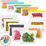BPA Free Food Storage Bag,MaByTre 12-Pack Kitchen Food Container Bags with 7 Sandwich Bags and 5 Snack Bags for Home Travel F