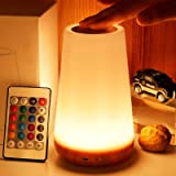 LED Night Light, TAIPOW Remote Control/Touch Table Lamp, Dimmable Bedside Lamp, Kids Baby Bedroom Lamp with Timer Function, D