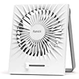 Fancii Portable Personal Desk Fan, Rechargeable Small USB Table Fan with Turbo Airflow, Whisper Quiet, Adjustable Stand - For