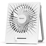 Fancii Portable USB Desk Fan, Rechargeable Personal Desktop Mini Fan with Powerful Turbo Airflow for Home, Office or Travel,