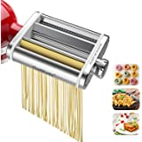 Galifode 3 in 1 Stainless Steel Pasta Maker Attachment for Kitchenaid Stand Mixers, Pasta Sheet Roller,Spaghetti Cutter,Fettu