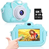 Kids Camera, A-TION Camera for Kids with 3.0 inch IPS Touchscreen, Rechargeable Selfie Camera for Children, Lanyard Hands-fre