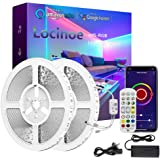 Smart LED Light Strip 65ft - Locinoe 20m WiFi LED Light Strip Compatible with Alexa,Google Home Controlled by Smart APP - Mus