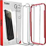 TOZO for iPhone 12 Pro Max 6.7 inch Screen Protector [3-Pack] Premium Tempered Glass [0.26mm] 9H Hardness 2.5D Film Super Eas