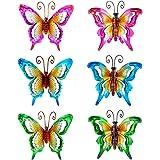 SVEIKS 6 Pack Metal Butterfly Wall Art Decor, Indoor & Outdoor Butterfly Décor