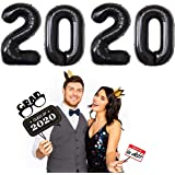 2020 Balloons Foil Number Balloons 40 inch New Year Party Supplies 2020 Graduation Decorations Balloon,Black