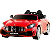Advwin Kids Ride on Electric Toys Car Mercedes-Benz AMG GTR 12V Motor w/Battery RC Red