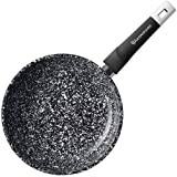 WaxonWare 8 Inch Granite Ceramic Nonstick Frying Pan & Nonstick Skillet, Anti-Warp Non Toxic PTFE APEO PFOA Free Nonstick Pan