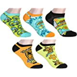 Scooby-Doo! Socks Adult Mystery Machine and Scooby 5 Pack Mix and Match Ankle Socks, Shoe- 4-10