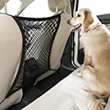 rabbitgoo Dog Car Barrier Net Pet Barrier for Car, Dog Car Seat Protector Front Seat Back Net Organizer Design for Pet Distur