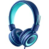 Kids Headphones - noot products K11 Foldable Stereo Tangle-Free 3.5mm Jack Wired Cord On-Ear Headset for Children/Teens/Boys/