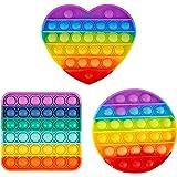 3 Packs Popitz Fidget Toy for Child Adult,Poppop It Popits Poppers Popet Pops Popitsfidgets Push Pop Bubble Sensory Stress Re