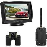 AUTO-VOX M1W Wireless Reversing Camera Kit,IP 68 Waterproof LED Super Night Vision License Plate Reverse Reversing Rear View