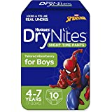 DryNites Pyjama Pants Boys Size 4-7 Years 10 Pack