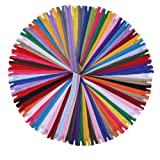 16 inch Zippers - Assorted Color Nylon Coil Zippers Bulk - Supplies for Tailor Sewing Crafts - Pack of 80