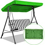 Newly Replacement Canopy for Swing,Outdoor Swing Canopy Replacement Porch Top Cover Seat Furniture 2-3 Seater Waterproof Top