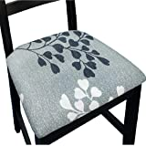 NORTHERN BROTHERS Chair Seat Covers for Dining Room Chair Covers Printed Dining Chair Seat Covers Set of 4,Apricot Leaves
