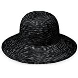 Wallaroo Hat Company Women's Petite Scrunchie Sun Hat - UPF 50+ - Crushable, Made for Small Heads