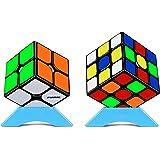 FAVNIC 競技用 キューブ 魔方 2×2、3×3、 立体パズル【日本語6面完成攻略書付き】ポップ防止 知育玩具 対象年齢:6歳以上 (公式版)