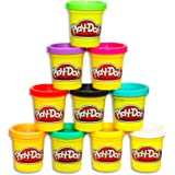 Play-Doh - Bulk Pack of Colours - 10 x 85g Tubs of Dough - sensory and educational craft toys for kids, boys, girls - Ages 2+