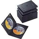エレコム トールケース DVD BD 対応 標準サイズ 2枚収納 10個セット ブラック CCD-DVD06BK