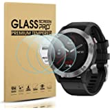 Suoman 3-Pack for Garmin Fenix 6 Screen Protector Tempered Glass for Garmin Fenix 6/6 Pro/ 6 Sapphire [2.5D 9H Hardness][Anti