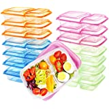 Supernal 36 Pack Meal Prep Containers,Clear Bento Box,2 Compartment with Lids, Food Storage Containers, Microwave/Dishwasher/