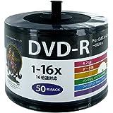 HI-DISC データ用DVD-R 16倍速対応 ホワイトレーベル ワイドプリンタブル 50枚入りスタッキングバルク エ…