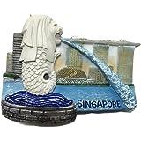 Merlion, SINGAPORE Souvenir Collection 3D Fridge Refrigerator Magnet Hand Made Resin