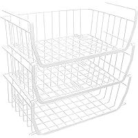 HOGAWAY 吊り下げ棚 3個セット 収納バスケット キッチン収納ラック 荷重5kg オフィス/バスルーム用 積み重ね…