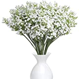 YSBER 10Pcs Baby Breath/Gypsophila Artificial Fake Silk Plants Wedding Party Decoration Real Touch Flowers DIY Home Garden(Wh