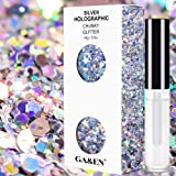 Silver Holographic Chunky Glitter Cosmetic Body Face Hair Musical Festival Carnival Dance Party Beauty Makeup 8 Sizes&Shapes