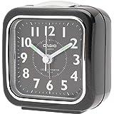 CASIO(カシオ) 目覚まし時計 ブラック 7.6×7.3cm アナログ ミニサイズ ライト 付き TQ-157-1B…