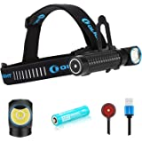 Olight Perun Kit 2000 Lumens Multi-use Headlight 18650 Ultra-Compact Cool White Rechargeable LED Right Angle lamp with Head S