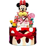 KanonBabys おむつケーキ 女の子 ミニー ディズニー 出産祝い 2段 Mサイズ 3101