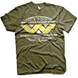 Aliens Officially Licensed Wayland-Yutani Corp. Mens T-Shirt (Olive)
