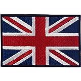British Union Jack Embroidered England Flag Patch UK Great Britain Iron On Sew On Emblem