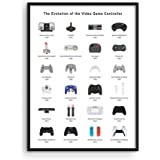 Retro Video Game Posters for Walls by Haus and Hues | Video Game Wall Art and Gamer Poster | Gamer Decor for Boys Room | Game
