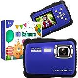 子供用カメラ, 12M キッズカメラ 1080P トイカメラ 子供プレゼント 多機能 子供のおもちゃ 写真/録画/連写/タイマー撮影/自撮り/8倍ズーム/32GB対応可/10種類撮影シーン効果 2.0インチ IPS画面 子どもデジタルカメラ 知育 教
