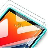 ESR iPad 10.2 フィルム iPad 7とiPad 8用 ガラスフィルム iPad Air 3 iPad Pro 10.5通用 簡単貼り付けフレーム 耐スクラッチ 硬度9H HD透明度透明度プレミアム強化ガラス液晶保護フィルム 2枚入り