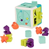 Battat - Shape Sorter Cube – Sorting Toy for Learning – Shapes, Letters, Numbers – 12 pcs – Educational Activity Cube with Be