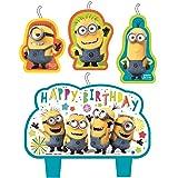 Amscan Despicable Me Birthday Cake Candle 4 Piece Set