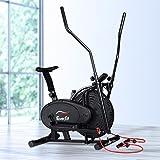 Everfit Elliptical Cross Trainer Magnetic Exercise Bike Resistant Adjustable 120kg Capacity Flywheel Stationary Cycling w/Res