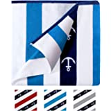 Rosybeat Beach Towels Pool Towels with Plush 100% Cotton Extra Large Soft Colorful Comfort Classic Design Velour Stripes for