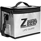Zeee Lipo Safe Bag Fireproof Explosionproof Bag Large Capacity Lipo Battery Storage Guard Safe Pouch for Charge & Storage(8.4